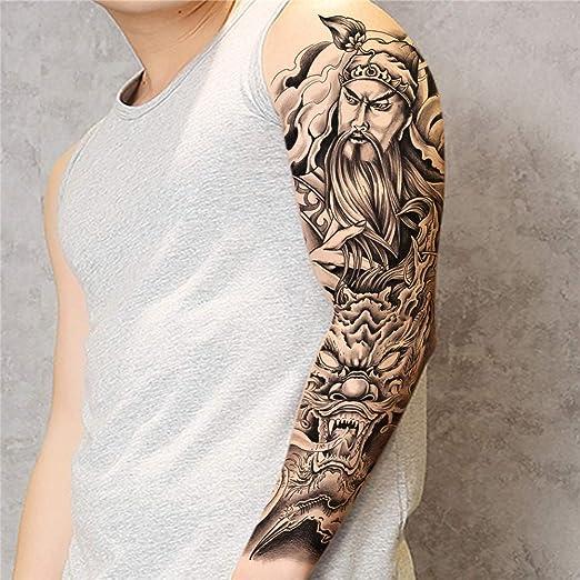 tzxdbh 3pcs-Brazo Completo Tatuaje Pegatinas Brazo Entero Brazo de ...