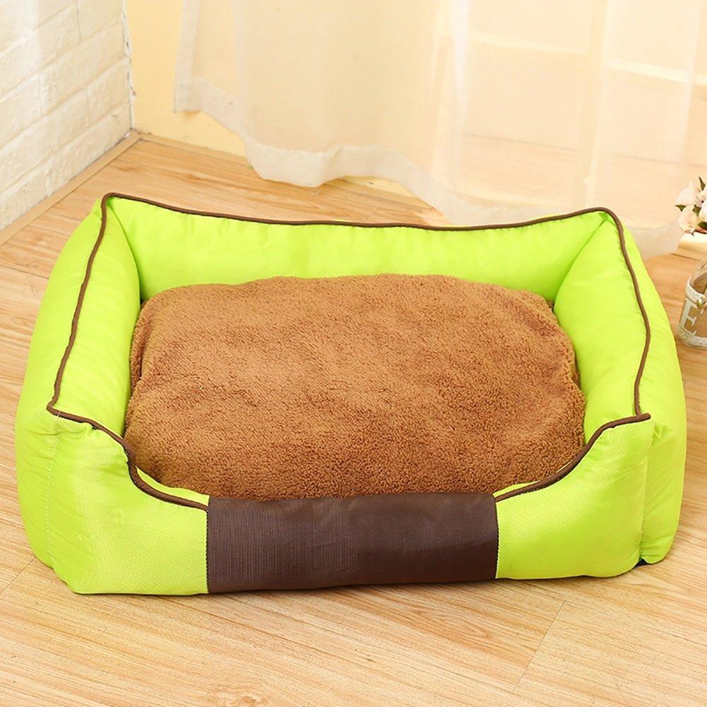 LongYu Pet Nest,Thickening Washable Cushion Pet Dog Cat Bed Sofa Nest Soft Cotton Dog Warm Kennel Bed House Pet Mats Cushion 3 color & 3 Size (color   bluee, Size   L)