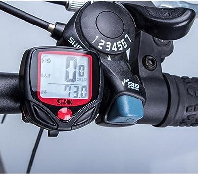 QHJ Ciclocomputador | Cable Blo de rueda de bicicleta/Velocímetro ...