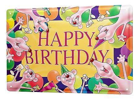 Cartel Letrero de Chapa XXL Tarjeta Cumpleaños Diversión ...