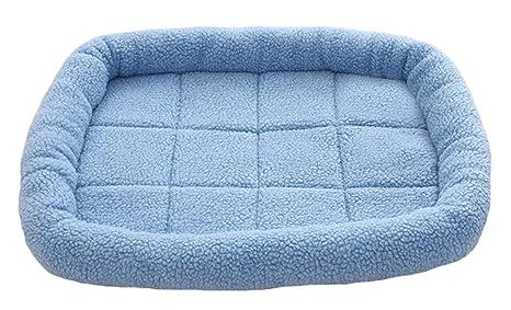 Icegrey Colchón Cama para Perros para Mascotas Lavable Alfombra Perros y Gatos Azul 60x50cm