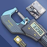 SanLiang Digital Electronic Micrometer Set Measuring Tool 0-1 Outside Premium Inch/Metric Precision Machinist Caliper…