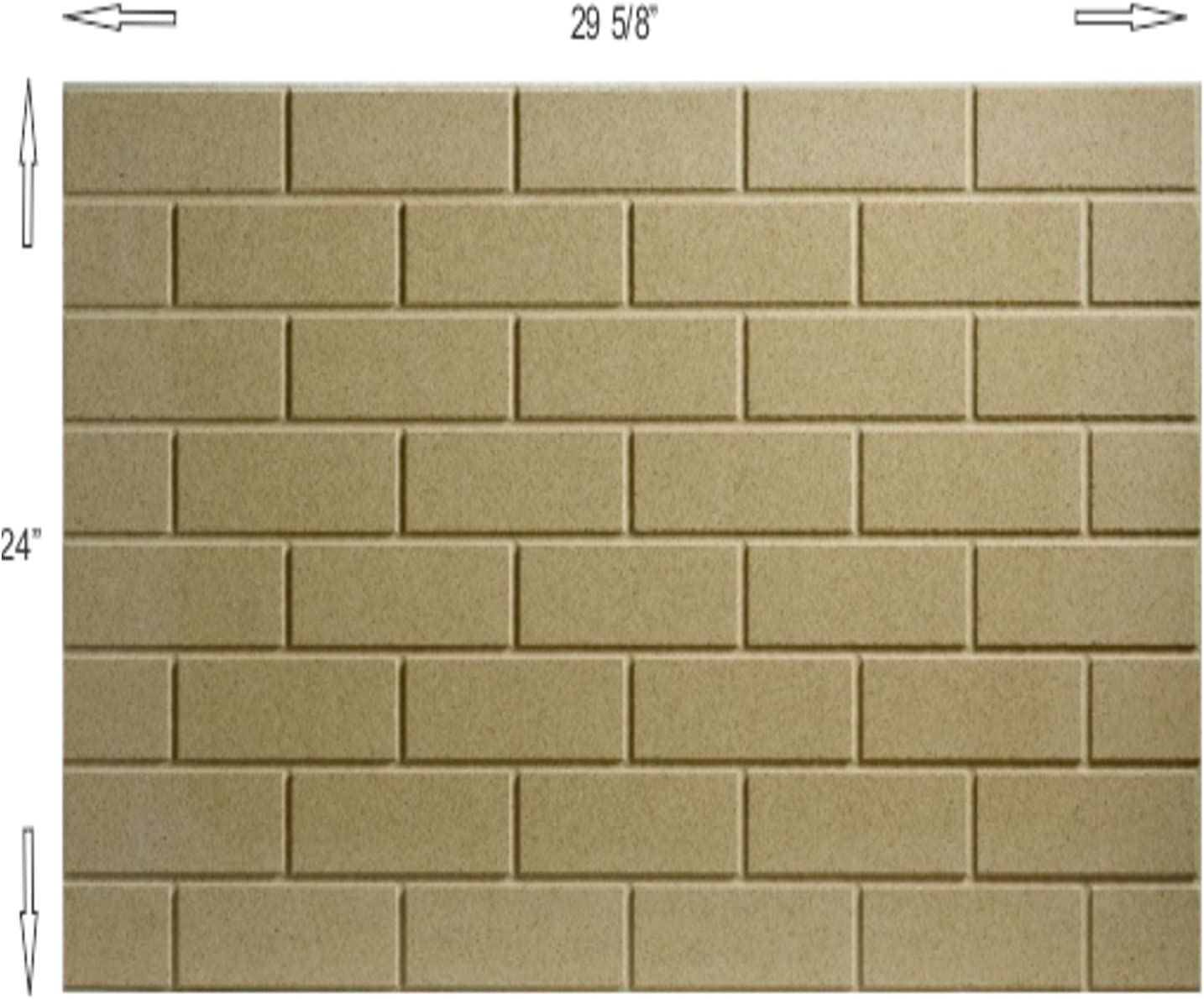 4 x 8 Brick Pattern Thermax Vermiculite Refractory Panel 24 inch X 29 5//8 inch