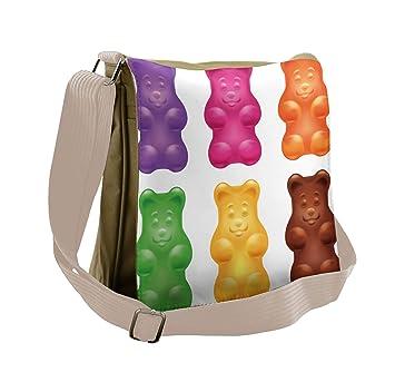 Amazon.com: lunarable niños bolsa de mensajero, colorido ...