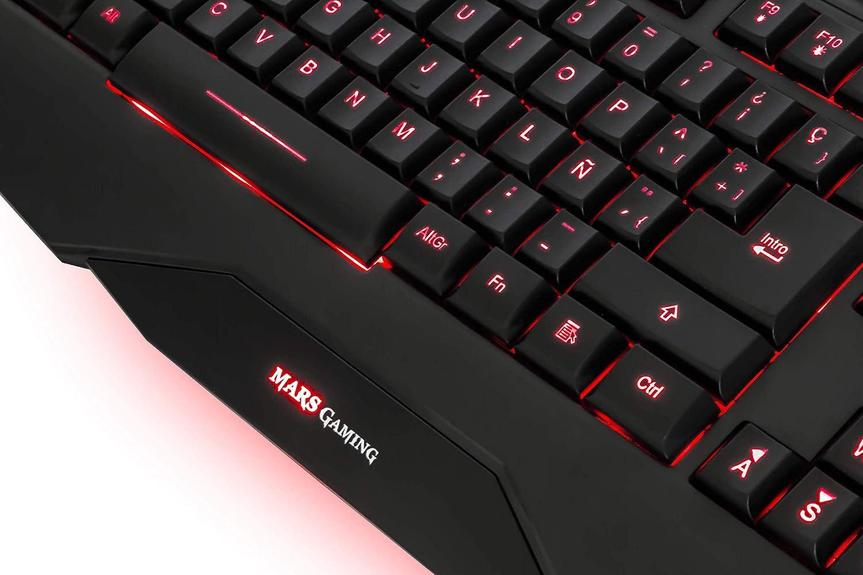 MARSGAMING MK2US, Teclado PC Membrana, 8 Teclas Gaming, Layout US, negro