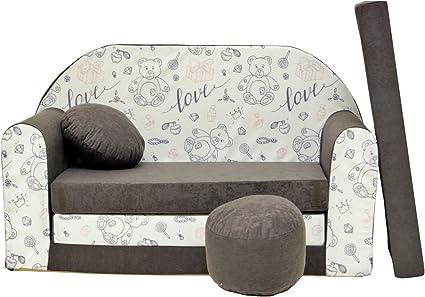 Divano Letto Bambini.A47 Bambini Sofa Divano Letto Divano Sofa Mini Couch 3 In 1 Baby