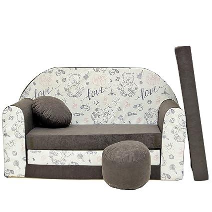 Sofa Divano Letto.Welox A47 Bambini Sofa Divano Letto Divano Sofa Mini Couch 3 In 1