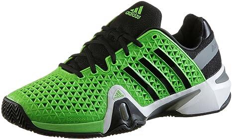 online retailer 6349b fc40c adidas Adipower Barricade 8+ Clay - Zapatillas de Tenis para Hombre Verde  Highlight Green