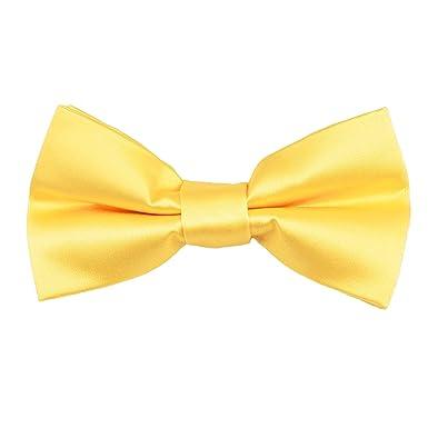 8763219301b0 Image Unavailable. Image not available for. Colour: Plain Lemon Yellow Men's  Bow Tie