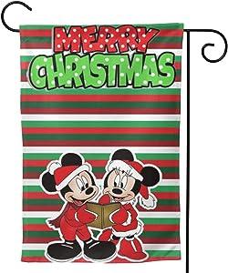WOMFUI Christmas Mi-ckey Mouse Garden Flag Home Outdoor/Indoor Yard Flag 12.5 X 18 Inch