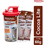 Soulfull Millet Smoothix- Cocoa Lite Protein Drink, 2 Sachets- Free Shaker