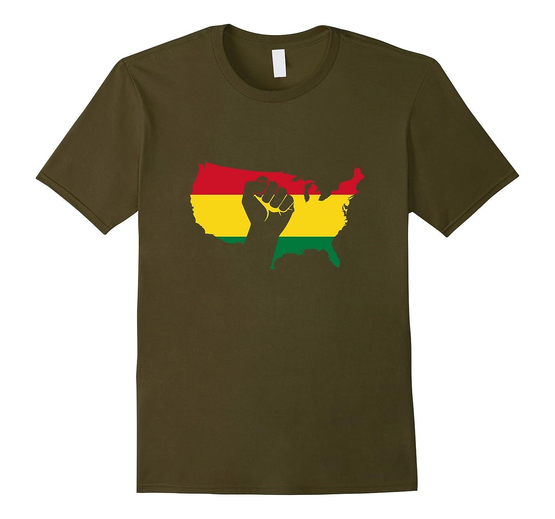 African American Black Power Fist Black Pride T-Shirt-CD