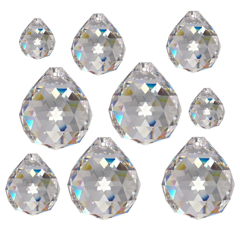 9 Kristalle Salzburger Mandel 50mm Crystal 30/%PbO ~ Kronleuchter Lüster