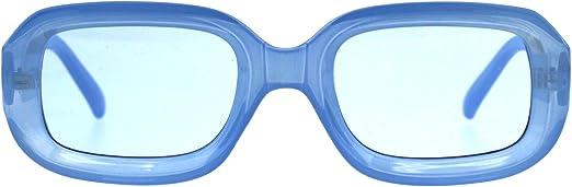 Womens Sunglasses Vintage Retro Beveled Rectangular Frame UV 400
