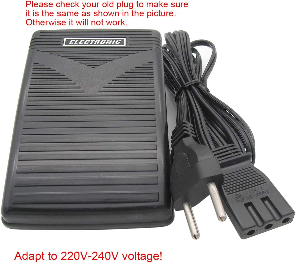 SINGER FOOT CONTROL PEDAL /& LEAD 3 PIN D PLUG GENUINE BRAND NEW