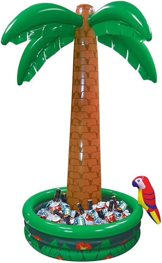 33.46 inches//85 cm Perfect for Pool Party Summer BBQ Party and Luau Tiki Party AGUIguo Inflatable Palm Tree Decoration 2 Pack 3 Ft Coconut Trees Tropical Hawaiian Theme Party Decor