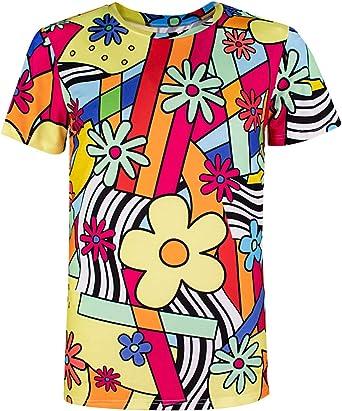 COSAVOROCK Disfraz de Camiseta con Flores Hippie para Hombre ...