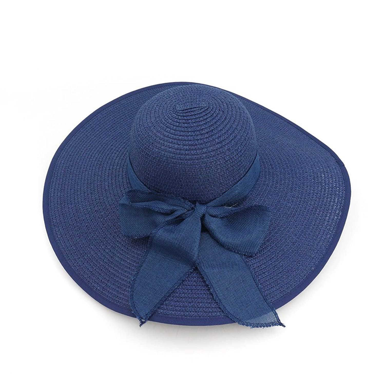 30%OFF Roffatide Mujer Plegable Floppy Ala Ancha Bowknot Grande Sombrero de  Paja Sol Verano 6d91f968a0a7
