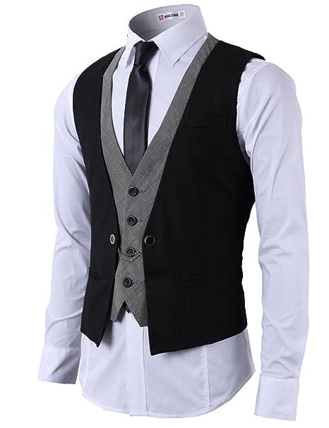 Amazon.com: H2H - Chaleco de corte ajustado para hombre ...