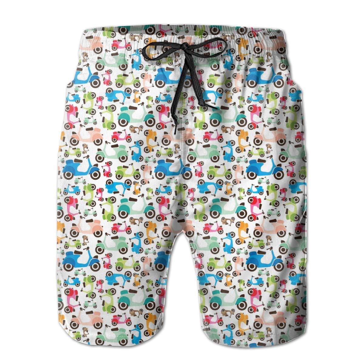 Rainbow LGBT Pride Aloha Triple Pineapple YongColer Casual Men Beach Shorts Swim Trunks Quick Dry Half Pants