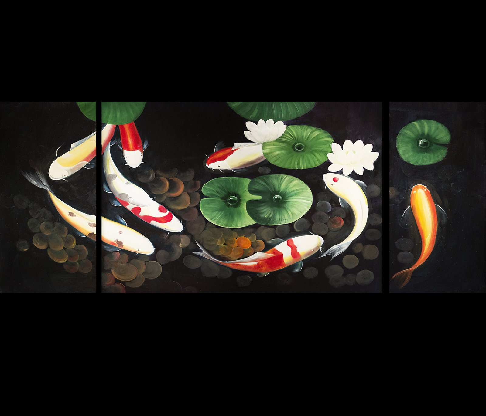 Feng Shui Fish Painting Koi Art Koi Fish Painting Contemporary Art Modern Wall Art Decor Prints On Canvas by Fengshui-paintings.com