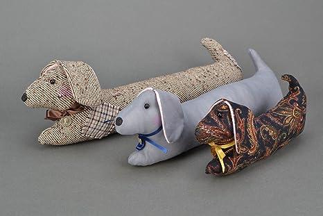 Inusual tela almohada de peluche en forma de perro salchicha