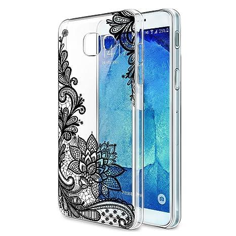 Funda Samsung Galaxy A3 2017, Eouine Cárcasa Silicona 3d Transparente con Dibujos Diseño Suave Gel TPU [Antigolpes] de Protector Bumper Case Cover ...