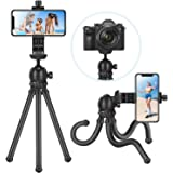 Neewer 12 inches Flexible Tripod with 1/4-inch Screw Mount and Ball-Head 360 Degree Rotatable Phone Clip for iPhone Samsung Huawei Smart Phone and DSLR Camera for Photo Video Photography