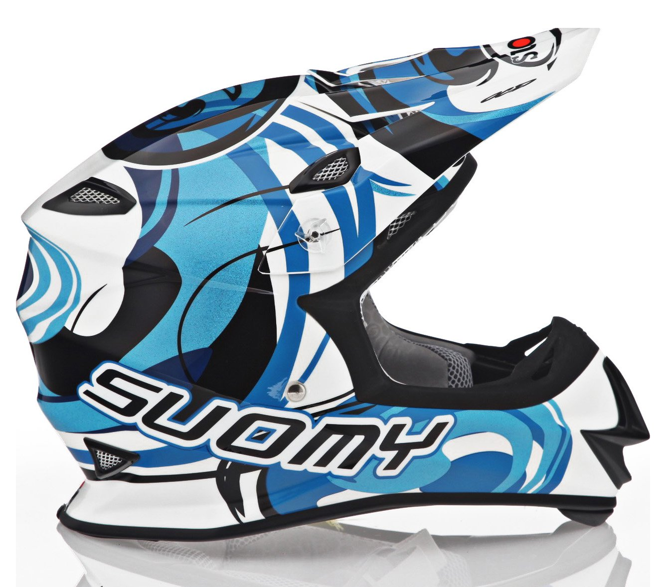 Amazon.com: Suomy MX Jump Vortex azul casco, S, Azul: Automotive