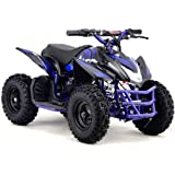 Outdoor Kids Electric Battery Mini Quad ATV Dirt Bike Ride On Titan V5 24V Blue