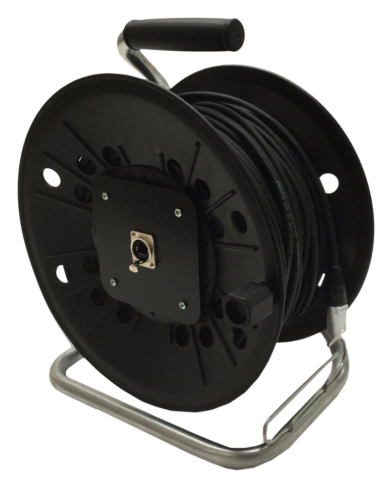 Neutrik Cat5e Lead on Plastic Reel 100 m Ethercon Van Damme Cable