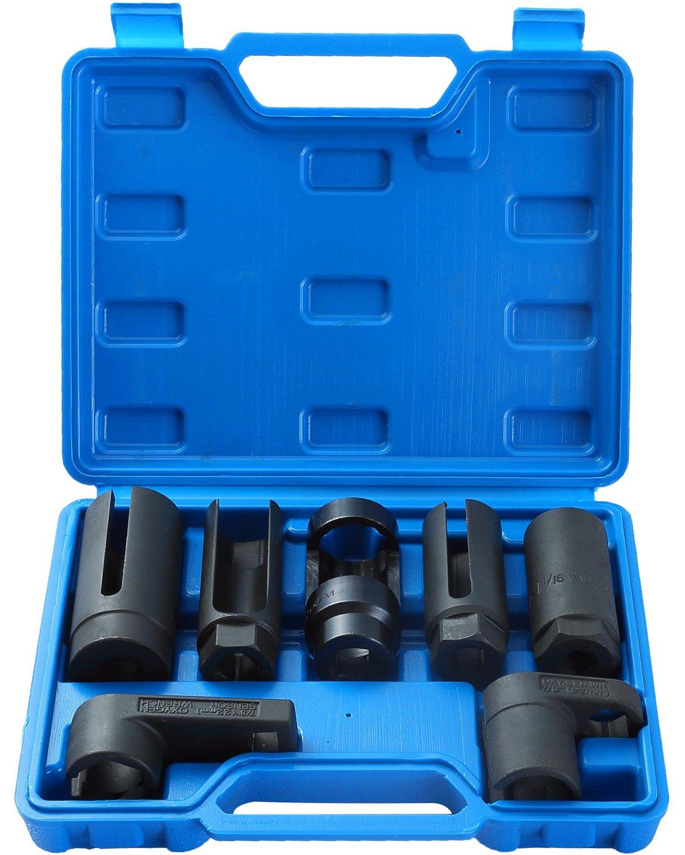 DASBET 7pcs O2 Oxygen Sensor & Oil Pressure Sending Unit Master Sensor Socket Set ZTECH AUTO
