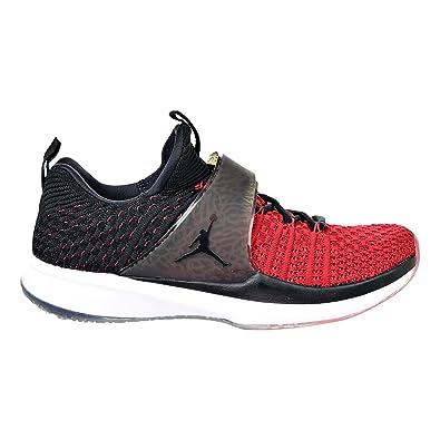 on sale bc59e d87cd Nike Jordan Trainer 2 Flyknit pour Homme Chaussures d entraînement Gym  Rouge Noir 921210