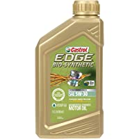 Castrol 06555 EDGE Bio-Synthetic 5W-30 Advanced Full Synthetic Motor Oil, 1 quart, 1 Pack