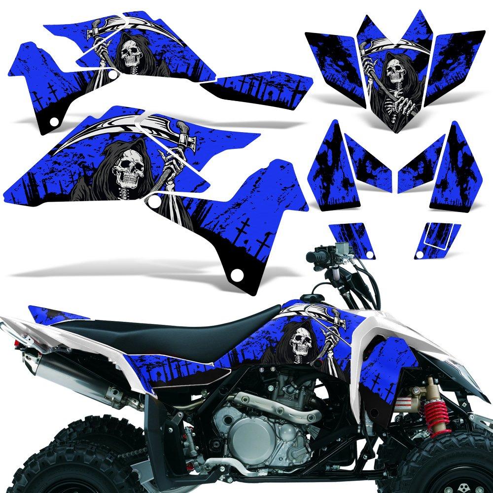 Suzuki LTR450 2006-2009 Graphic Kit ATV Quad Decal Sticker Wrap LTR 450 REAPER BLUE Wholesale Decals