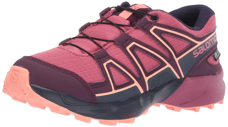 Mauve SALOMON Speedcross CSWP J, Chaussures de Course sur Sentier Mixte Enfant 31 EU