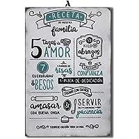 Cuadro Decorativo Vintage/Pintura a Mano/RECETA / 60 x 40 / Pintura/Decoración/Cocina/Sala/Comedor/Antecomedor/Hogar