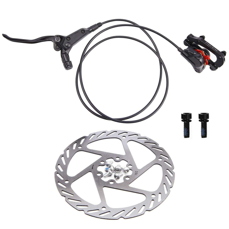 160mm Rotors Mountain Bike Hydraulic Disc Brakes Caliper Black Front Rear Brakes