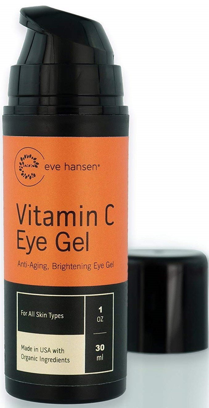 Vitamin C Eye Gel by Eve Hansen - Defying Treatment for Dark Circles, Puffiness and Wrinkles! 1 Ounce.
