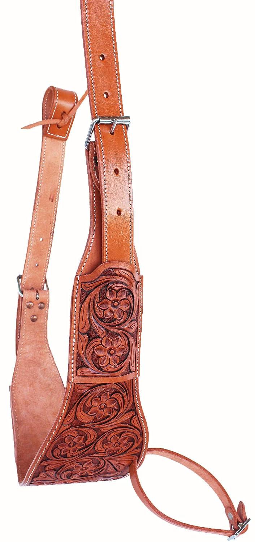 CHALLENGER Horse Western Floral Tooled Leather Rear Flank Saddle Cinch w//Billets 9772FL