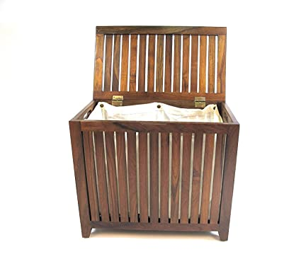 Outstanding Amazon Com Nova Natural Wooden Hamper With Flip Lid Creativecarmelina Interior Chair Design Creativecarmelinacom