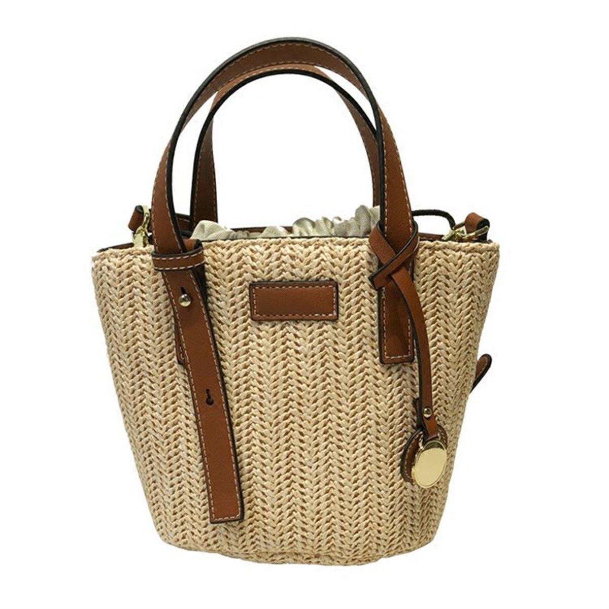 WFYJY-Stroh aus Tasche Schrägen aus Tasche Eimer Tasche badetasche Modische Handtaschen.