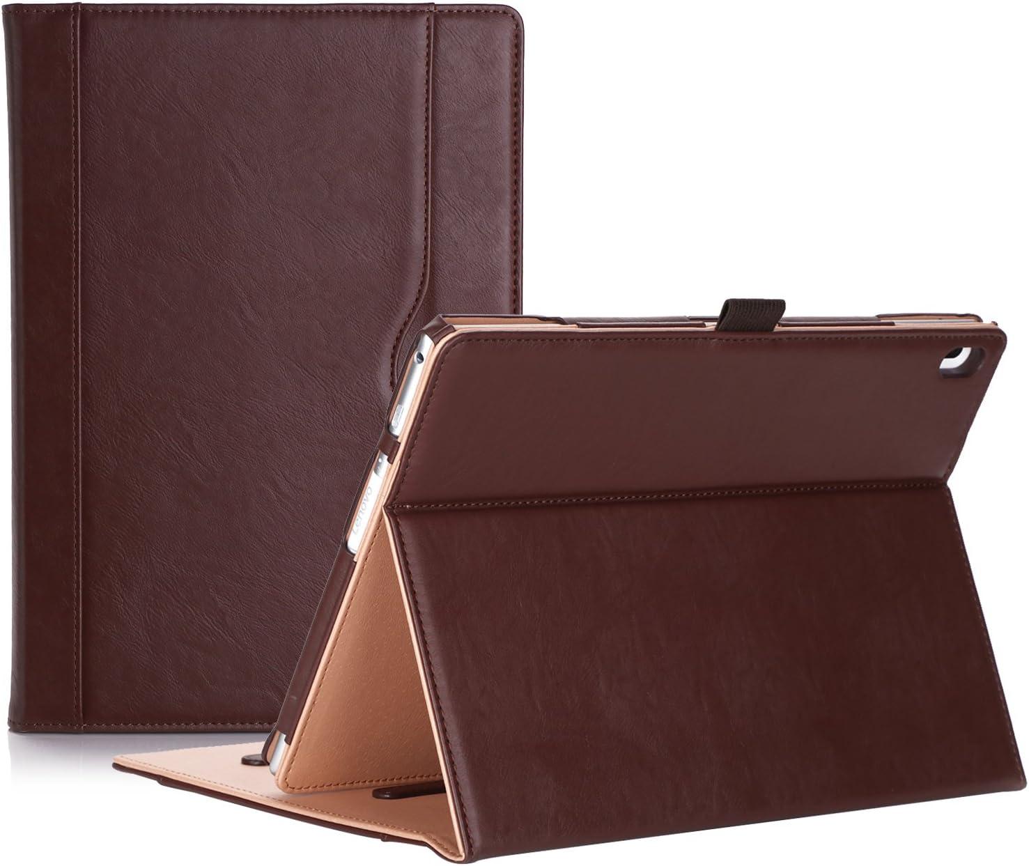 ProCase Lenovo Tab 4 10 Case - Stand Folio Case Protective Cover for Lenovo Tab 4 Tablet 10.1 Inch 2017 Release ZA2J0007US -Brown