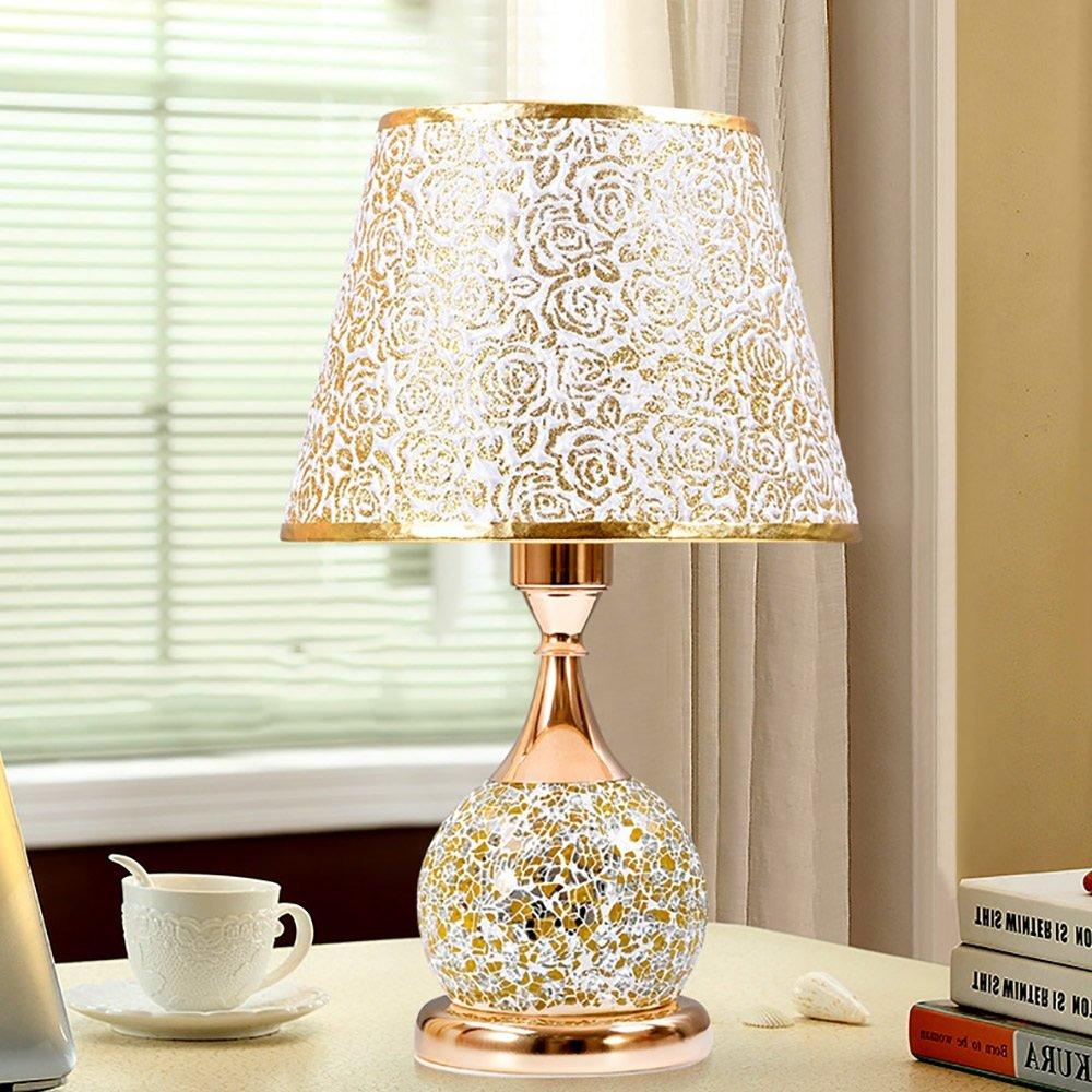 QFFL Gold Glas Tischlampe Schlafzimmer Nachttischlampe Nachttischlampe Nachttischlampe Wohnzimmer Hotel Segment Control Tischlampe (41  25cm) ( Farbe   C ) B078BX7BRV | Verschiedene Waren  bbebb0