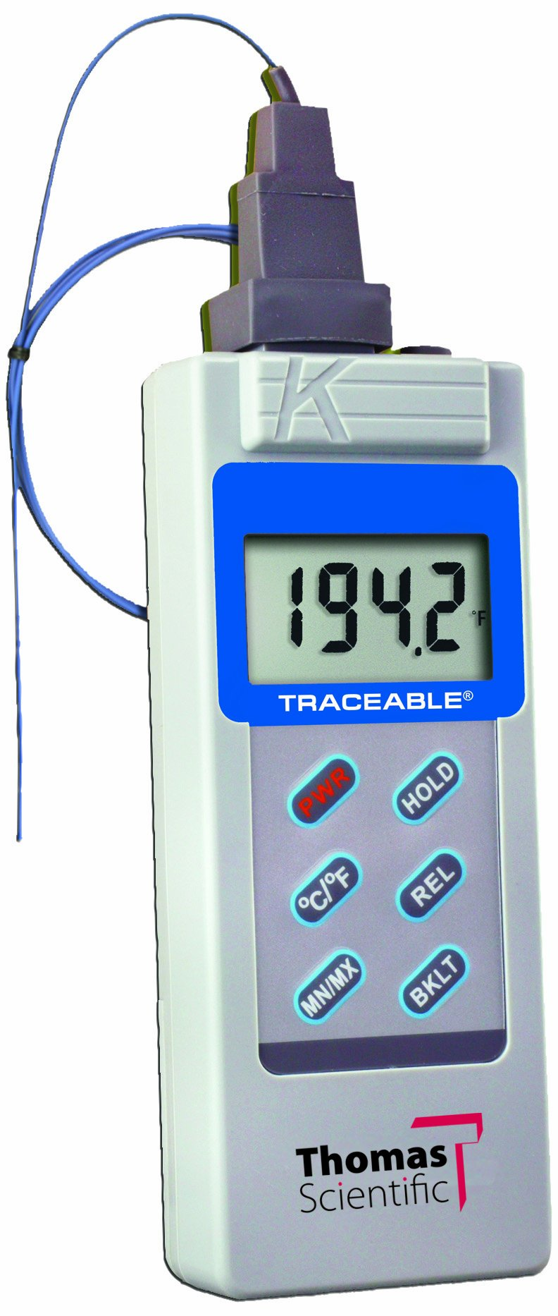Thomas Traceable Big Digit Type K Thermometer, -58 to 2000 degree F, -50 to 1300 degree C