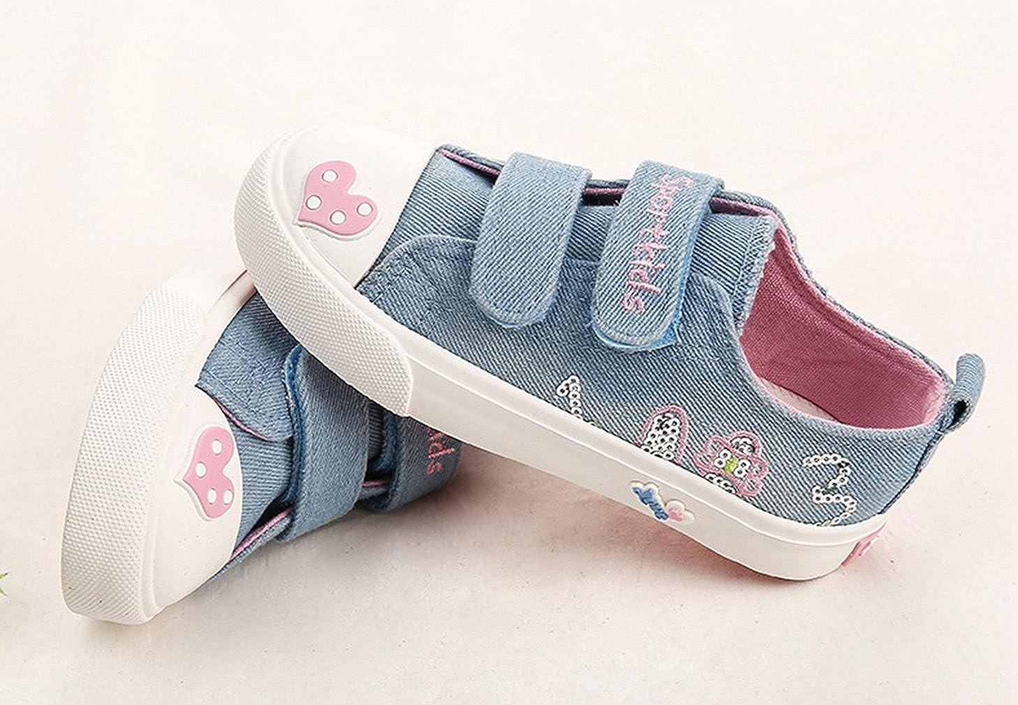 La vogue Zapatos de Lona Ni/ña Chica Coraz/ón Antideslizante para Primavera