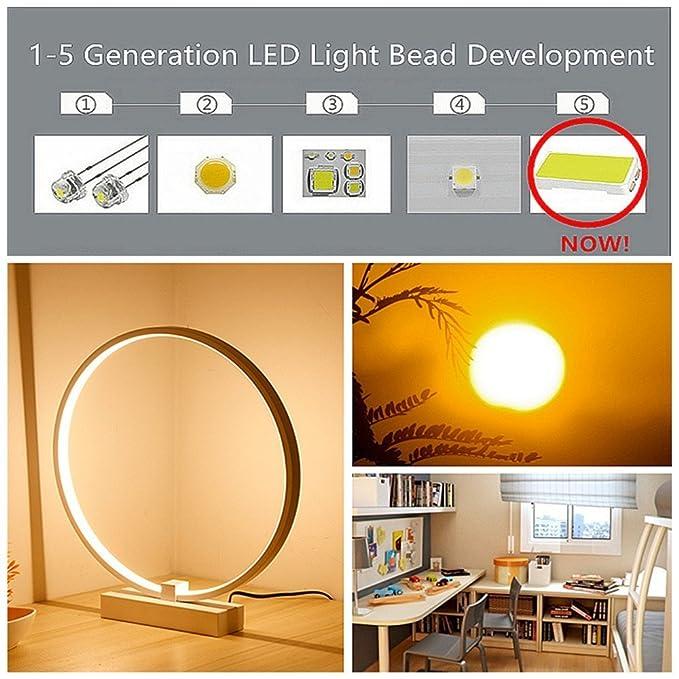 Elinkume Spiral Led Tischleuchte Gebogene Led Lampe Modernes