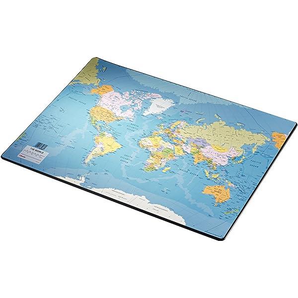 Esselte Vade de escritorio, Mapa del mundo, 40x53cm, Plástico ...