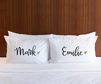 personalized gift pillow cases couples personalized name pillows set with gift wedding bridal shower valentines day