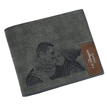 Cartera de Cuero Personalizada para Hombre con Foto Personalizada, un Regalo Personalizado Hombres y papá: Amazon.es: Equipaje